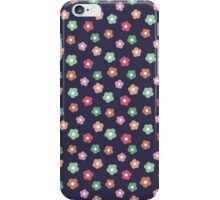 Beautiful  little flower doodle pattern.  Seamless cute background. iPhone Case/Skin