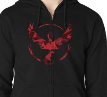 Team Valor [Shattered Moltres Logo] Zipped Hoodie