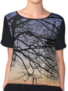 Tree Silhouette  Chiffon Top