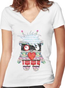 Warhol Monster Women's Fitted V-Neck T-Shirt
