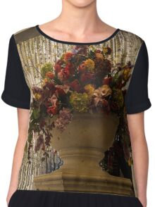 Of Flower Arrangements and Sparkling Crystals Chiffon Top