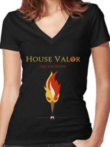 House Valor Women's Fitted V-Neck T-Shirt