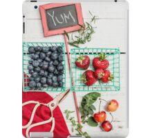 Blueberries, Cherries, Basil Still Life iPad Case/Skin