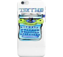 Text Me (in blue) iPhone Case/Skin