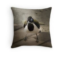 Blue Faced Honey Eater Throw Pillow