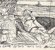 SPY GAME(STUDY)(INK PEN)(2) (C2013) by Paul Romanowski