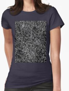 Shattered glass_vertical Womens Fitted T-Shirt