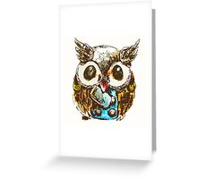 Owl of thunder Greeting Card