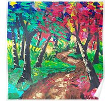 Whimsical Woods Abstract Poster