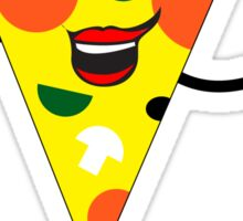 PIZZA SLICE WAVING PEPERONI MUSHROOM PEPPERS Sticker