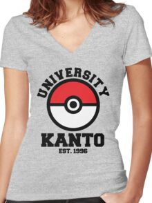 Poke University Women's Fitted V-Neck T-Shirt