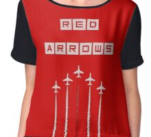 Red Arrows Chiffon Top