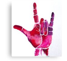 ASL I Love You Hand Canvas Print