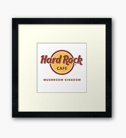 Hard Rock Cafe Mushroom Kingdom Mario Framed Print