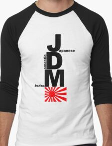JDM Rising Sun (2) Men's Baseball ¾ T-Shirt