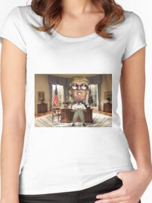 Trump Nerdy Women's Fitted Scoop T-Shirt