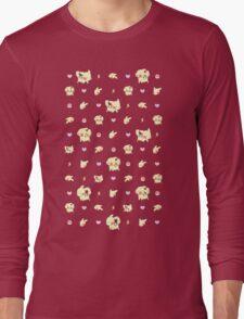 Pika Pastel Poke-Pattern Long Sleeve T-Shirt
