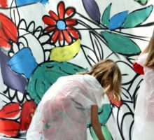 Painters at work Sticker