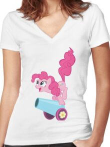 Pinkie Pie (My Little Pony)  Women's Fitted V-Neck T-Shirt