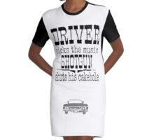 Driver Picks Music Quote Spn Graphic T-Shirt Dress