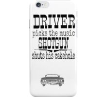 Driver Picks Music Quote Spn iPhone Case/Skin