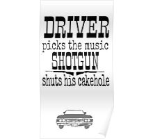Driver Picks Music Quote Spn Poster