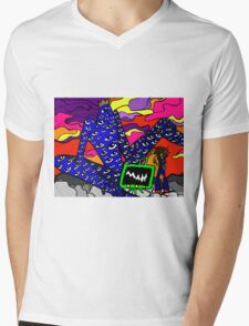 Eye God Mens V-Neck T-Shirt