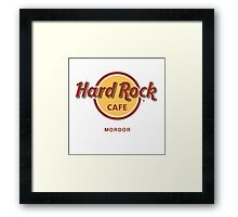 Hard Rock Cafe Mordor Lord of the Rings Framed Print