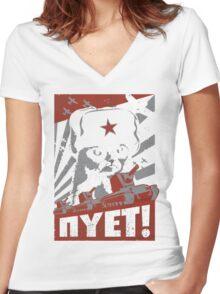 NYET Women's Fitted V-Neck T-Shirt