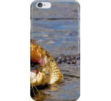Alligator Swallowing a Blue Crab iPhone Case/Skin