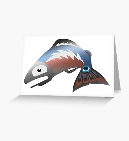 Salmon Dreams Greeting Card