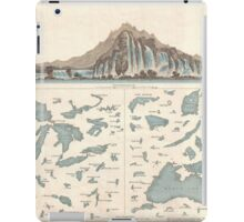 Vintage Lakes of The World Map (1860) iPad Case/Skin