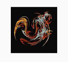 Swirl of Orange and Red Men's Baseball ¾ T-Shirt