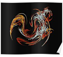Swirl of Orange and Red Poster