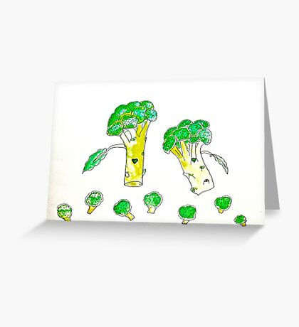 Eat more Broccoli Greeting Card