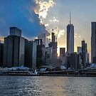 Manhatten Skyline at Sunset by Sherri Fink
