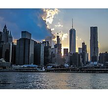 Manhatten Skyline at Sunset Photographic Print