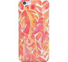 Split Leaf Philodendron – Melon Palette iPhone Case/Skin