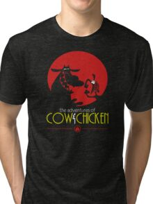 The adventures of Cow and Chicken 2 Tri-blend T-Shirt