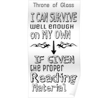 Throne of Glass Reading Quote Poster
