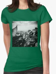 Leaves in Mijas Womens Fitted T-Shirt
