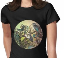 Three birds Womens Fitted T-Shirt