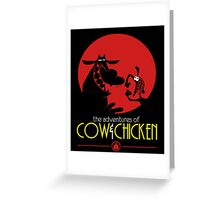 The adventures of Cow and Chicken 2 Greeting Card