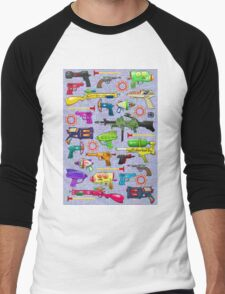 Vintage Toy Guns Men's Baseball ¾ T-Shirt