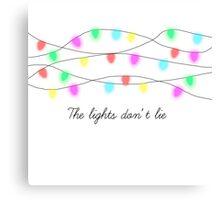 The lights don't lie. Canvas Print