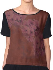 Dusty Primrose Clusters Chiffon Top