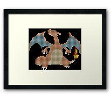 pixelated charizard Framed Print