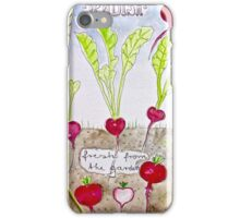 Radish - fresh from the garden iPhone Case/Skin