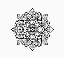Black On White Floral Mandala Unisex T-Shirt