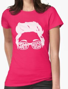 JAMMvlogs Typography Tee Womens Fitted T-Shirt